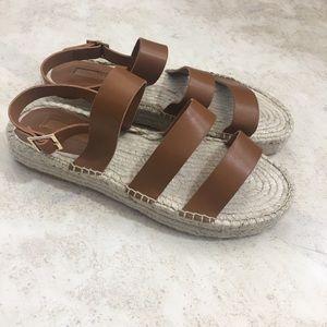 Tan Espadrille Sandals Size 9